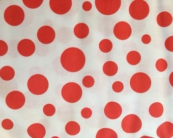 Michael Miller Lolli Dot Tangerine   1 yard  SUPER SALE