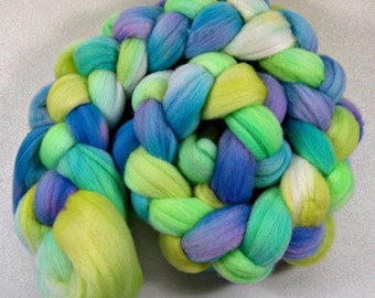 Budgies 2 merino wool top for spinning and felting (4.3 ounces)