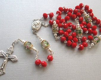 Queen of Heaven Rosaries - Red Rosary