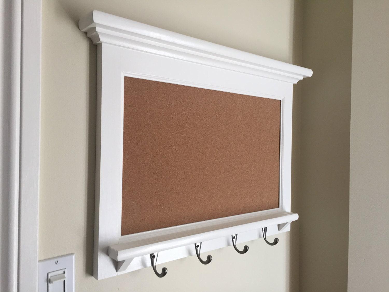 Cork board bulletin board organizer shelf wood framed for Bulletin board organizer