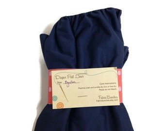 Navy Cloth Diaper Pail Liner: 8 Gallon