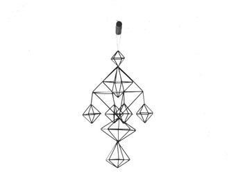 DEAE - Modern Hanging Mobile - Air Plant Hanger - Geometric Himmeli Sculpture