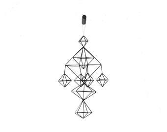DEAE - Modern Hanging Mobile - Air Plant Hanger - Geometric Himmeli Sculpture