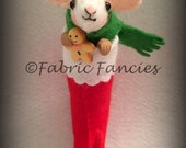 Little stocking mouse ornament christmas decoration