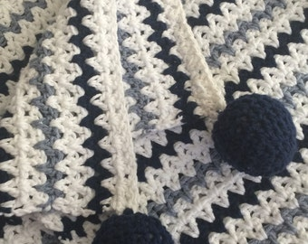 Baby Blanket Knitted Cotton (travel size) - New Year