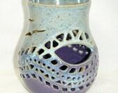 Geometric Candle Holder Bird Rainbow Luminary Purple Blue