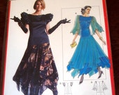 burda pattern 5518 ~ gypsy witch stevie nicks festival dance dress