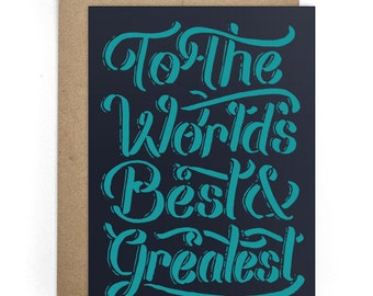 Modern Card for Him or for Her, Congrats, Thinking of You Greeting Cards, Best Friend Card, BFF Card