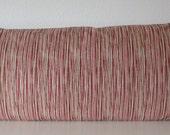 Laurel Bay Stripe Lava Red pillow cover