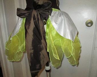 Fairy Hippie Boho Bustle Costume TRIBALPetal SKIRT overskirt Flower S-M-L-XL