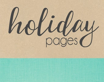 HOLIDAY page// baby book, baby gift, add on page, baby keepsake
