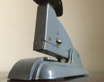 Vintage Swingline 3 Grey Metal Office Speed Stapler.