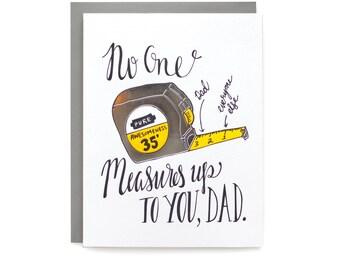 Measure Dad - letterpress card