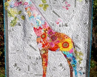 MarveLes GIRAFFE COLLAGE Wall Hanging Africa Jungle Children Nursery Floral Modern Home Decor