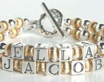 Mother's Keepsake Name Bracelet Special Price!