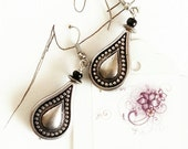 Boho Dangle Earrings lightweight Aluminum Fancy drop Silver Teardrops