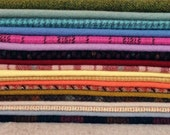Hand Dyed Felted Wool, 8in.x 8in. - Mixed Colors and Textures - for Applique, Penny Rugs, Sewing Projects - W516