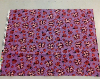 Lady bugs and Butterflies fabric 244332