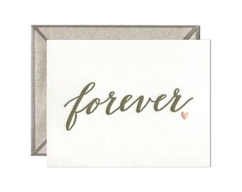Forever letterpress card