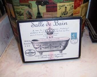 Salle De Bain cream pink bathroom sign,Paris decor,Paris theme,FRENCH decor,Paris bathroom decor,French bathroom,Paris wall  decor