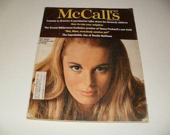 Vintage McCalls Magazine September 1968 - Dustin Hoffman Article, Fashions, Paper Ephemera, Collectible, Scrapbooking