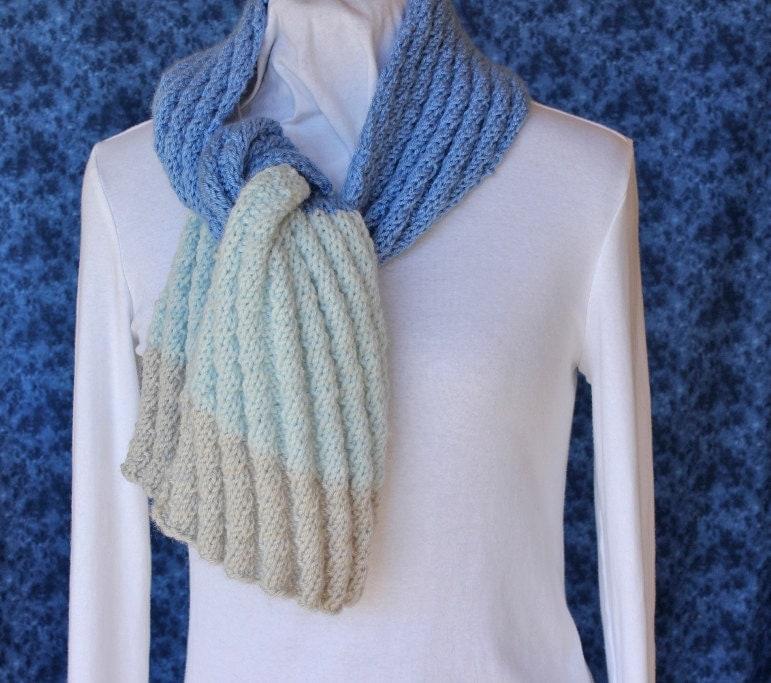 Knitting Pattern Knit Scarf Patterns Diagonal by KimberleesKorner