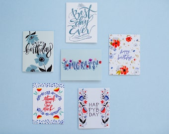 You pick - any SIX greeting cards - A-2 note cards with white envelopes