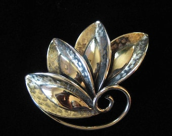Danecraft Sterling Silver Leaf Brooch