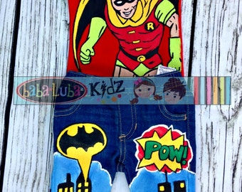 Boys Boutique custom painted outfit 12 18 24 2 3 4 5 6