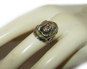 Free Shipping Art Nouveau Antique Egyptian Revival Old Grand Tour King Tut Snake Ring