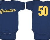 Memphis Grizzlies baby onesie - with player number on back