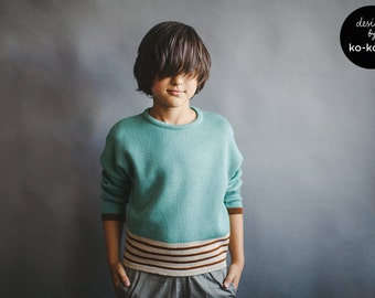 Unisex Knit Sweater: TEAL