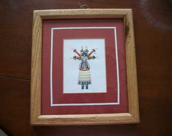 Kachina Doll  Framed picture   on Sale