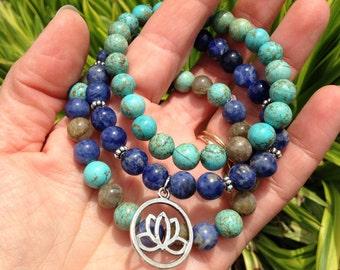 Lotus Mala Bracelet Set