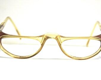Vintage Reding Frames // 1970s Readers // 60s 70s Eyeglass Frames // 1950s style //  Rhinestone Translucent // Sapphire by Optyl