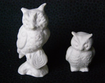 Owl Miniatures Pure White set of 2
