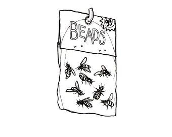 minimalist ink print: Bees. Beads?!?