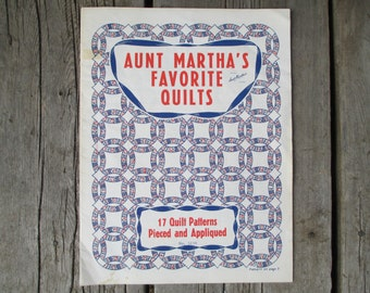 Aunt Martha's Favorite Quilts, 17 Quilt Patterns