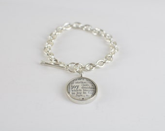 One Word dictionary charm bracelet 2016 word of the year