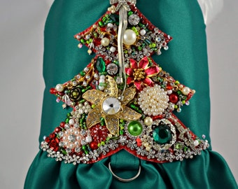 Dog Harness - Vintage Jewels Bling Christmas Tree