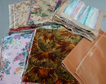 Lot of fabric pieces for quilting, wallhangings, pillows (lot #1)