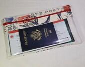 Travel Wallet - Long Travel Wallet - Passport Wallet - Travel Documents Organizer - Travel Itinerary Wallet/Organizer -Womens Wallet