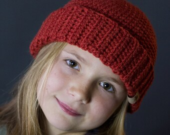 Crochet PATTERN Fishermans Cap Crochet Hat Pattern Includes 5 Sizes Baby, Toddler, Child, Teen, Ladies and Mens