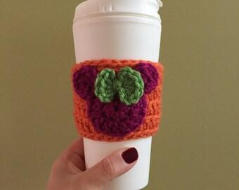 Disney coffee cup cozy, teacher gift, coffee sleeve, Minnie Mouse, disney vacation, halloween, fall autumn accessory, pumpkin cozy