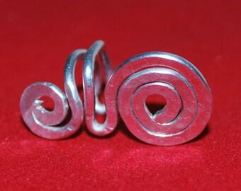 Silver Aluminum Pierceless Ear Cuff