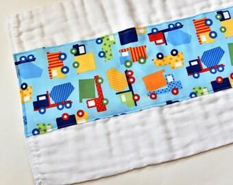 Baby Items Burp Rag Baby Burp Cloths, Baby Trend, Colorful Trucks, Baby Boy Gift, Baby Accessories, Burpcloths