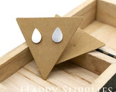 53.5X47MM Kraft Paper Triangle shape Earring Display Tags/ Earring Display Cards / Earring Holder, Jewellery Supplies, Packaging (TAG34)