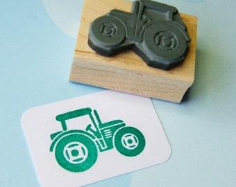 Tractor stamp - Little Tractor Rubber Stamp - Stocking Stuffer Filler - Gift for Farmer - Gift for Boys - Transport - Vehicle Stamper