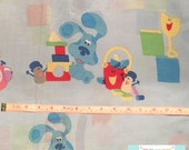 Toddler Bed Size Blues Clues Sheet
