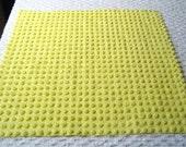 "Bates Bright White Fluffy Pops Vintage Chenille Bedspread Fabric 24"" x 24"""